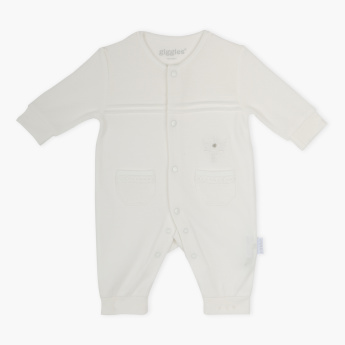 Giggles Pocket Detail Long Sleeves Sleepsuit