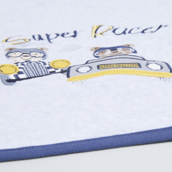 Juniors Embroidered Receiving Blanket - 84x84 cms