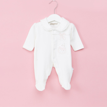 Giggles Printed Close Feet Sleepsuit