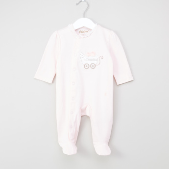 Giggles Closed Feet Sleepsuit with Applique