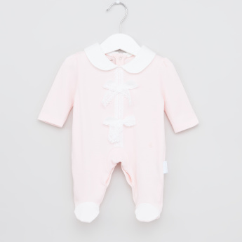Giggles Collared Sleepsuit with Bow Detail
