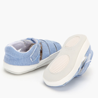Juniors Slip-On Denim Shoes with Hook and Loop Closure