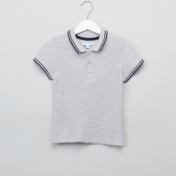 Juniors Polo Neck Short Sleeves T-Shirt