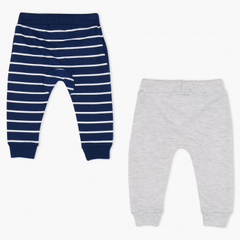 Juniors Striped Full Length Jog Pants - Set of 2