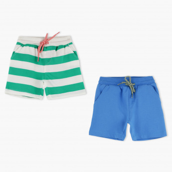 Juniors Shorts with Elasticised Waistband - Set of 2