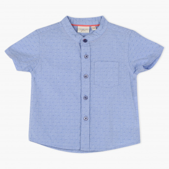 Juniors Textured Short Sleeves Shirt