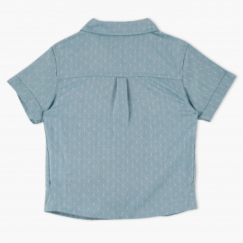 Giggles Textured Short Sleeves Shirt