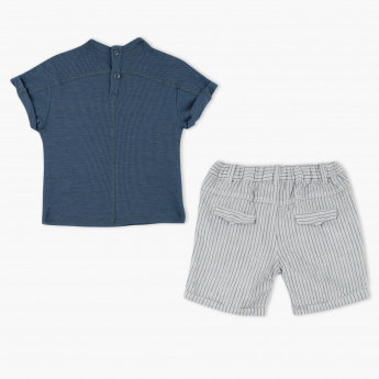 Giggles Textured T-Shirt and Shorts Set