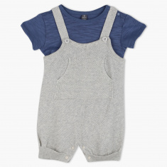 Giggles Dungaree and T-Shirt Set