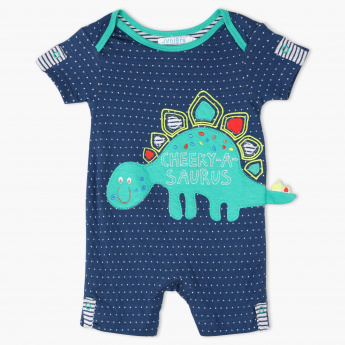 Juniors Printed Romper and Mitten Set
