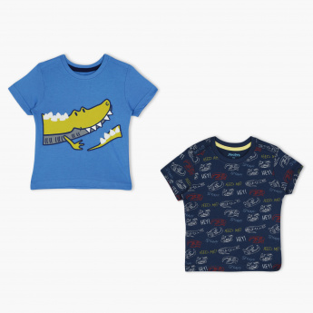Juniors Printed T-Shirt - Set of 2
