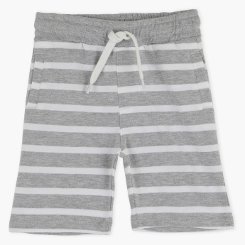 Juniors Striped Pocket Detail Shorts with Elasticised Waistband