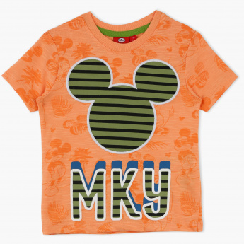 Mickey Mouse Printed Crew Neck T-Shirt