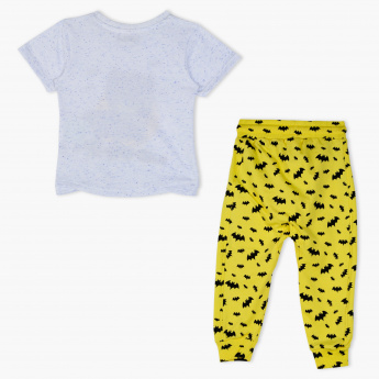 Batman Printed T-Shirt and Jog Pants Set
