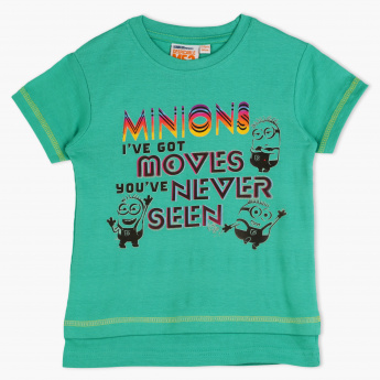 Minions Printed Crew Neck T-Shirt