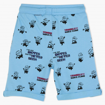 Minions Printed Knitted Shorts