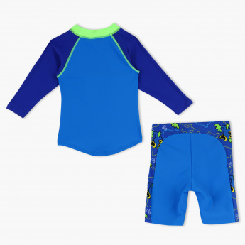 Juniors Printed Beach T-Shirt and Shorts Set