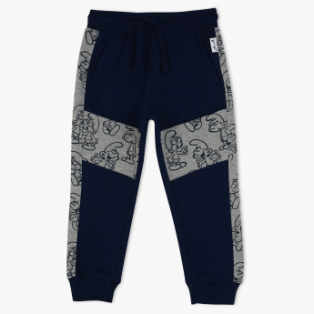 The Smurfs Printed Melange Jog Pants