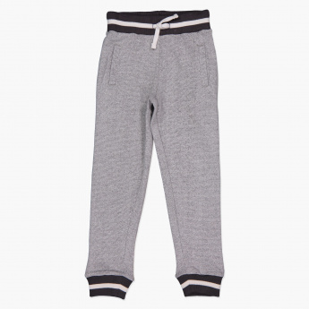 Juniors Striped Full Length Jog Pants with Elasticised Waistband