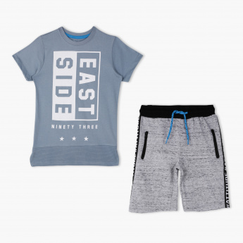 Juniors Printed T-Shirt and Shorts Set
