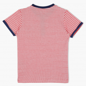 Eligo Striped T-Shirt with Short Sleeves