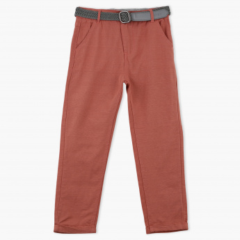 Eligo Full Length Pant with Pocket Detail and Belt