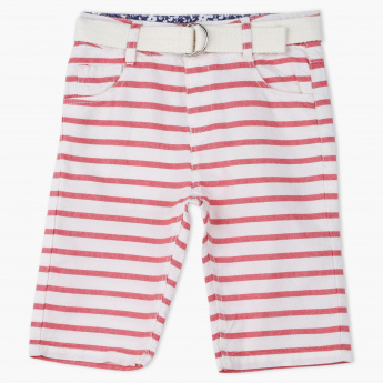 Eligo Striped Shorts and Belt Set