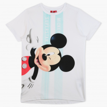 Mickey Mouse Print Short Sleeves T-Shirt