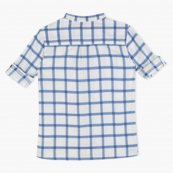 Posh Chequered Shirt with Roll-Up Sleeves