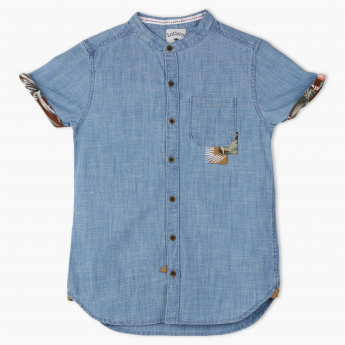 Lee Cooper Denim Shirt Sleeves Shirt