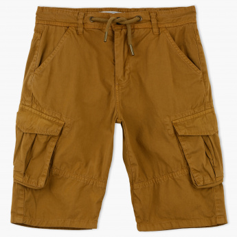 Lee Cooper Pocket Detail Shorts with Button Closure