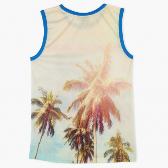 MAUI and Sons Printed Sleeveless T-Shirt