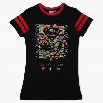Justice League Printed Crew Neck T-Shirt