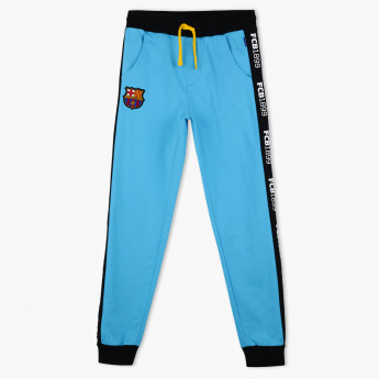 FC Barcelona Tape Detail Full Length Jog Pants
