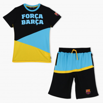 FC Barcelone Printed T-Shirt and Short Set
