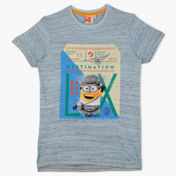 bc332501c Despicable Me Printed Crew Neck T-Shirt | Blue | T-Shirts