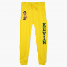 Minions Printed Full Length Jog Pants with Elasticised Waistband