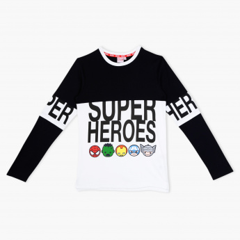 Superheroes Printed Crew Neck T-Shirt