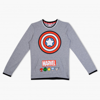 Captain America Printed Long Sleeves Sweatshirt
