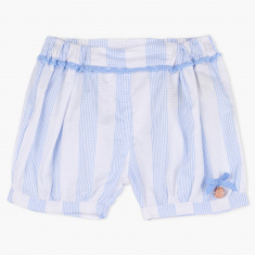 Giggles Striped Shorts with Lace Detail