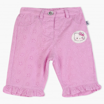 Hello Kitty Applique Detail Shorts with Elasticised Waistband