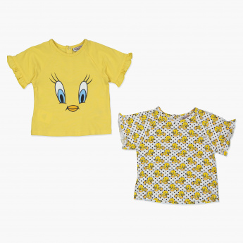 Tweety Printed T-Shirt - Set of 2
