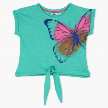 Juniors Butterfly Print T-Shirt