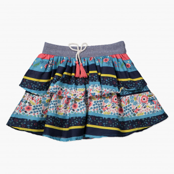 Juniors Printed Skirt