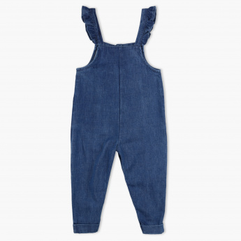 Juniors Embroidered Dungarees
