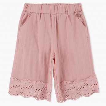 Eligo Embroidered Elasticised Waistband Shorts