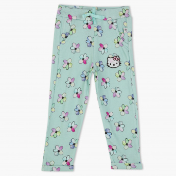 d7d27f0320745 Hello Kitty Printed Full Length Pants with Elasticised Waistband | Blue |  Pants