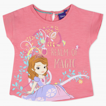 Sofia The First Printed Crew Neck T-Shirt
