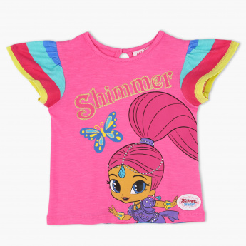 Shimmer and Shine Printed Crew Neck T-Shirt