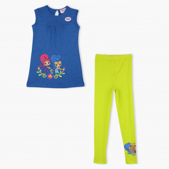 Shimmer and Shine Printed T-Shirt and Leggings Set